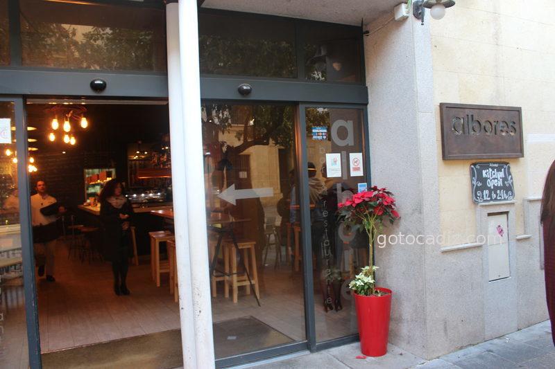 Entrada al restaurante Albores en Jerez