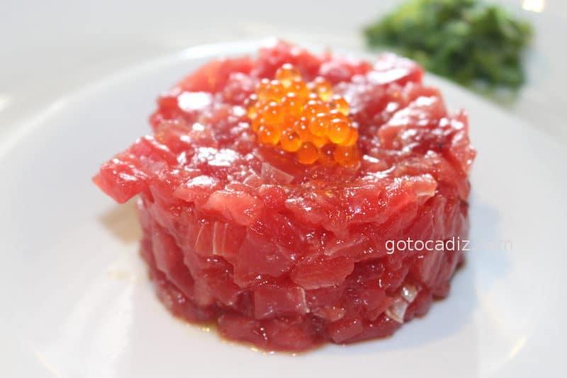 Tartar de atún de Antonio (como lo sirven ahora)