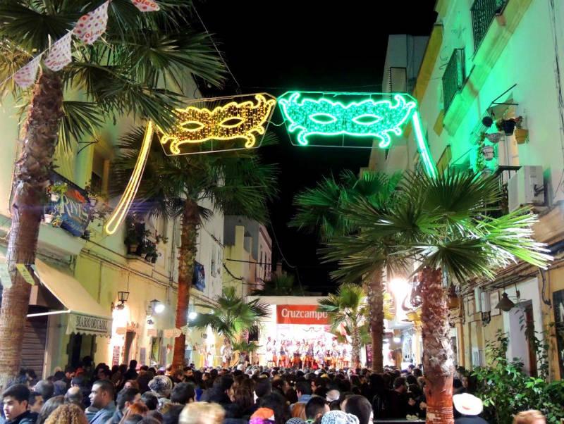 Tablao de la viña en el carnaval de Cádiz