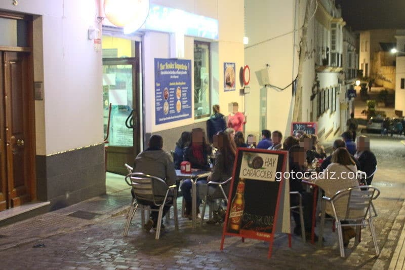 Terraza del bar Benitez en Chiclana
