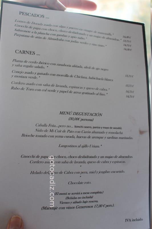 Carta de comida de Código de Barra 2/2