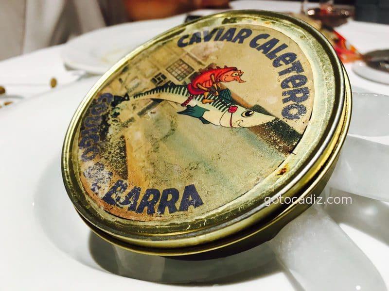 Presentación del caviar caletero de Código de Barra
