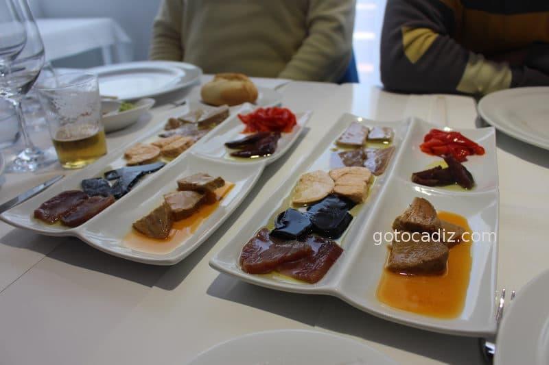 Combinado de salazones de atún de El Campero Barbate