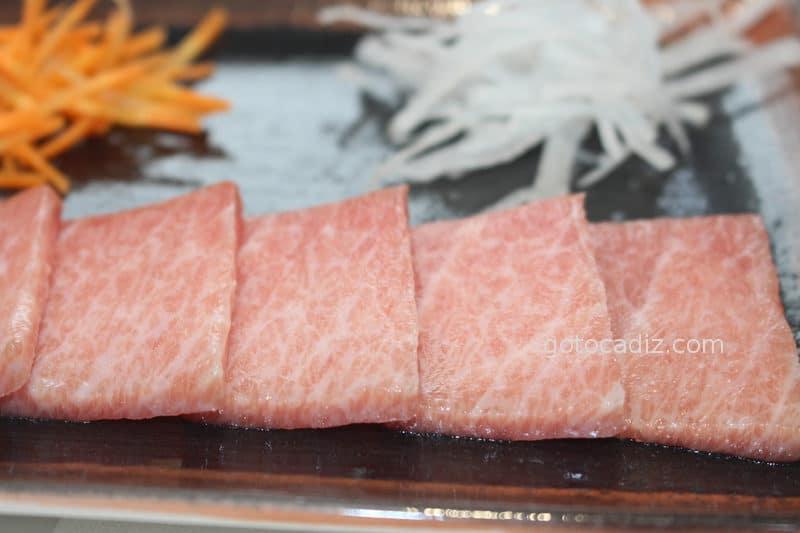 Sashimi de ventresca de atún de El Campero Barbate
