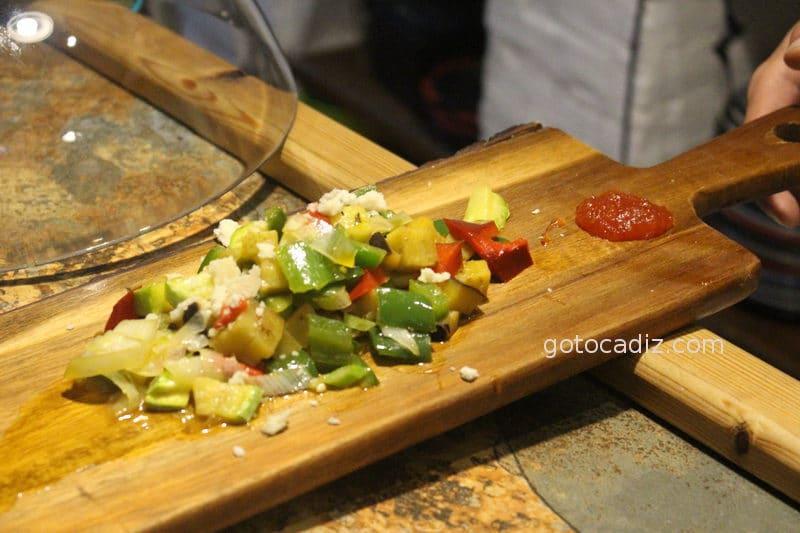 Salteado de verduras de Conil de El Escondite