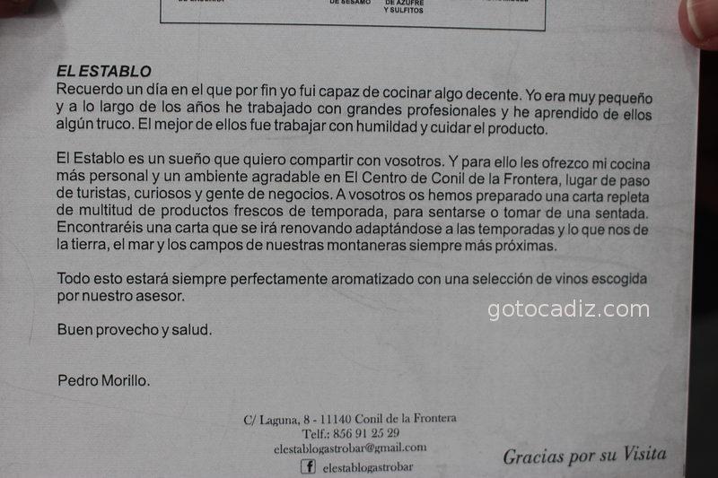 Carta de presentación de el propietario de El Establo