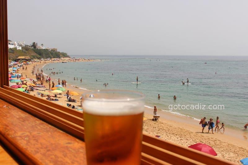 Vistas de la playa desde El Pirata