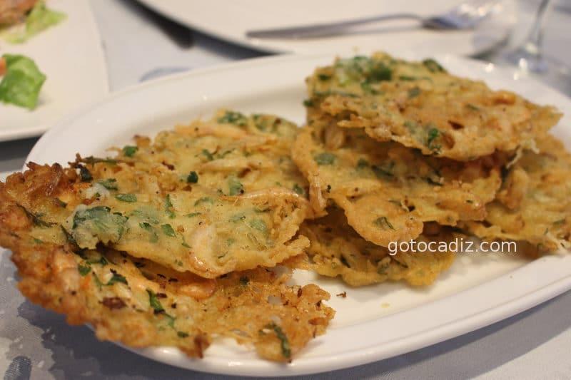 Tortillita de camarones del Francisco Fontanilla