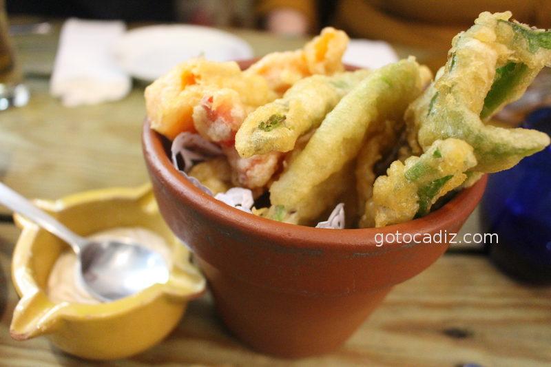 Verduras en tempura de La Candela