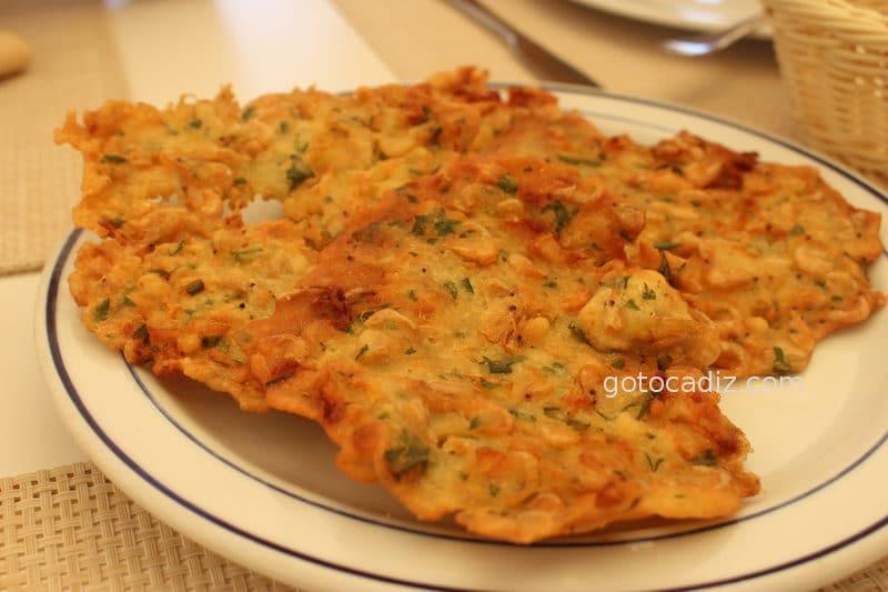 Tortillitas de camarones de La Marea