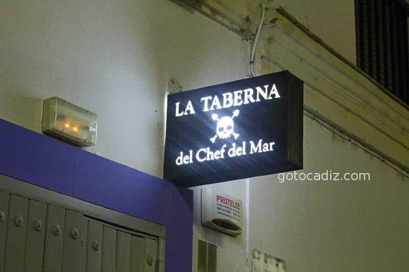 Cartel de La Taberna del Chef del Mar