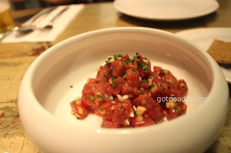 Tartar de atún de La Taberna del Chef del Mar