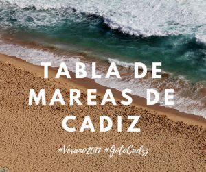 Mareas de Cadiz para el 2018