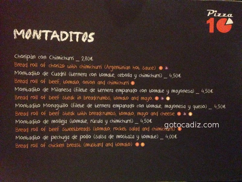 Carta de Pizza 10 2/7