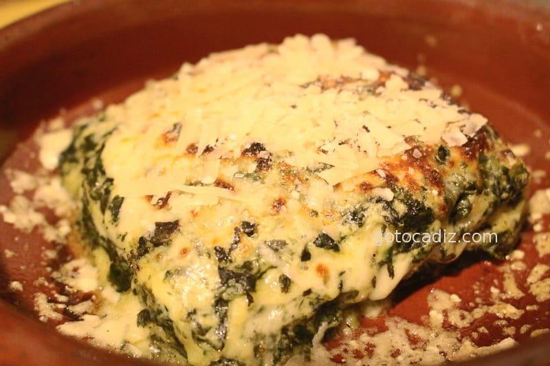 Lasagna de espinacas de La Dolce Vita El Palmar (Vejer)