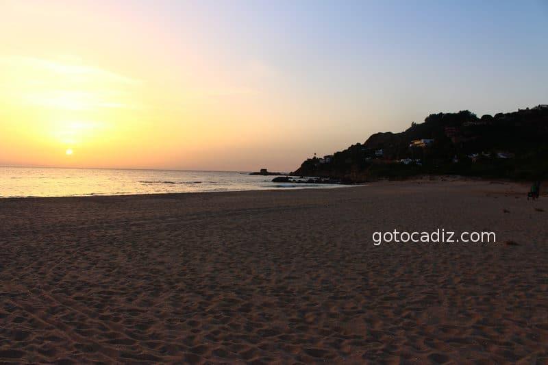 Puesta de sol en la playa de los Alemanes
