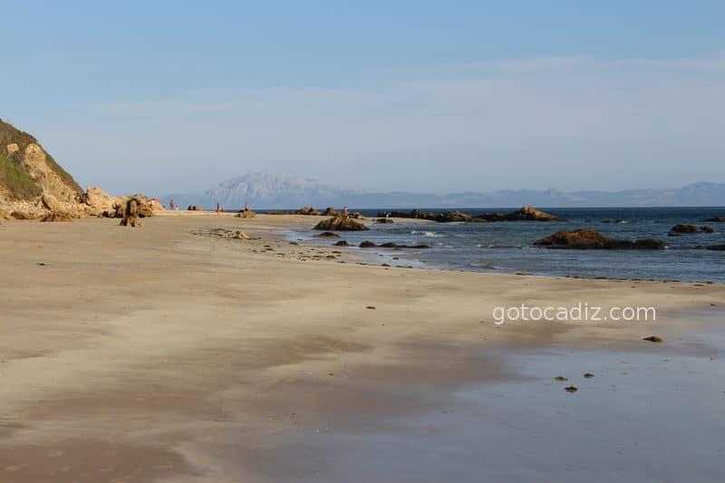 Vista de África desde la playa de Bolonia