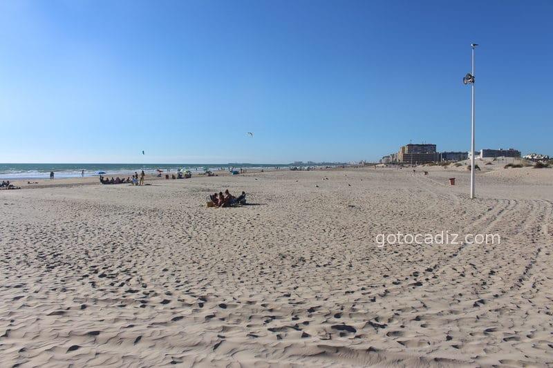Playa de Cortadura mirando hacia Cádiz ciudad