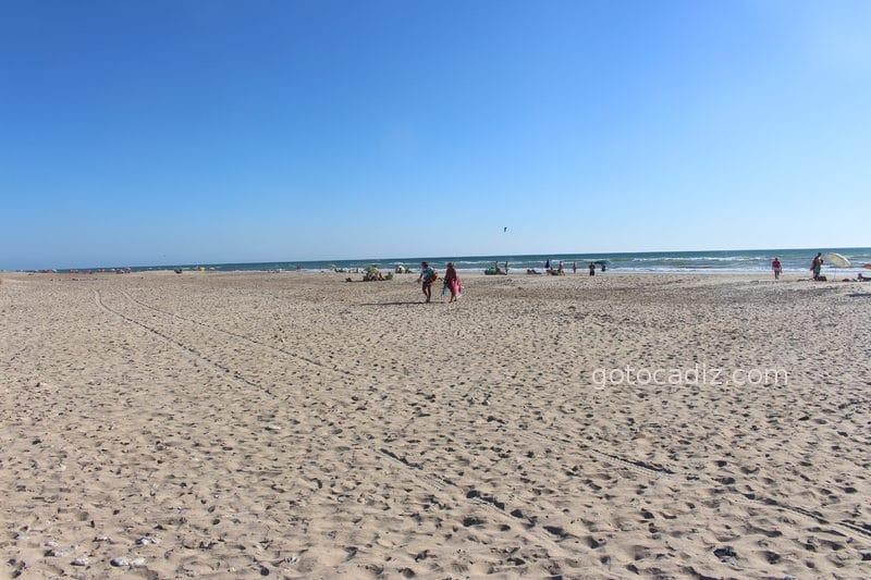 Playa de Cortadura mirando hacia San Fernando