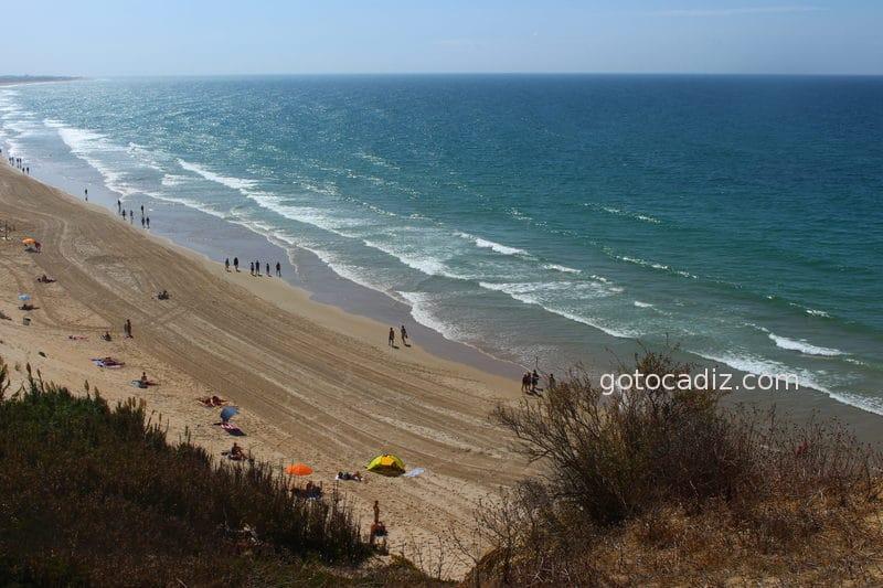 Vista aérea de La Playa de El Roqueo