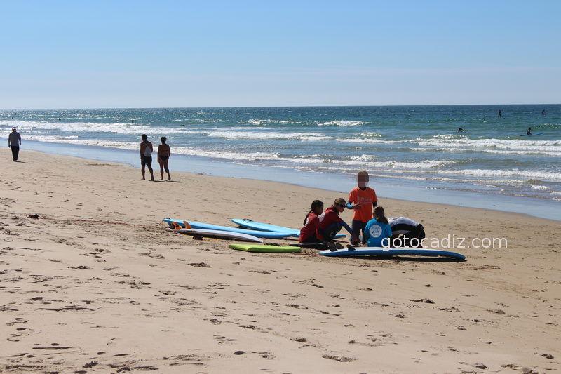 Clases de surf en El Palmar