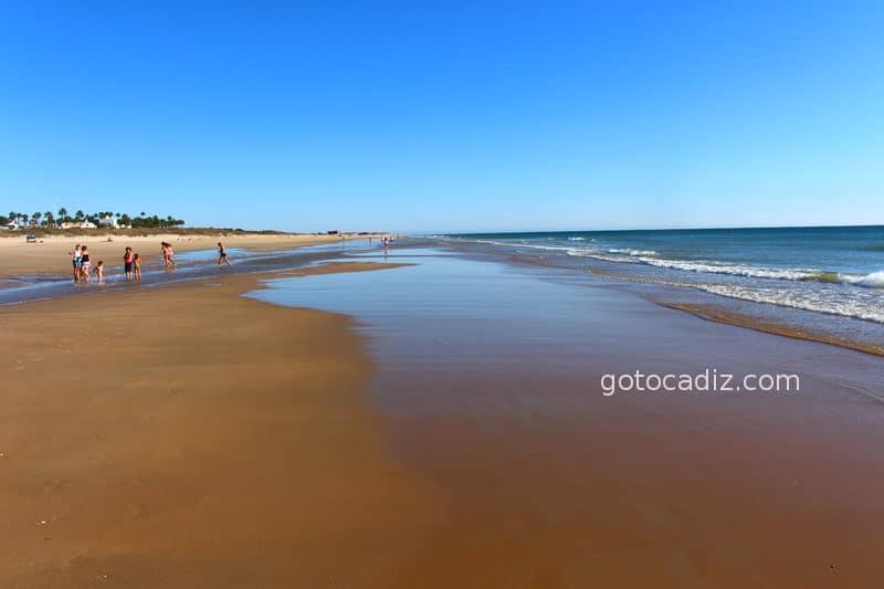 Playa de El Palmar en marea baja