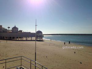 Playa de La Caleta en Cádiz capital ¡auténtica!