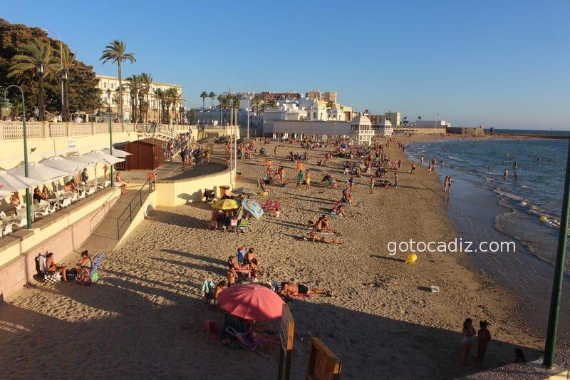 Playa de la Caleta en verano 2/2