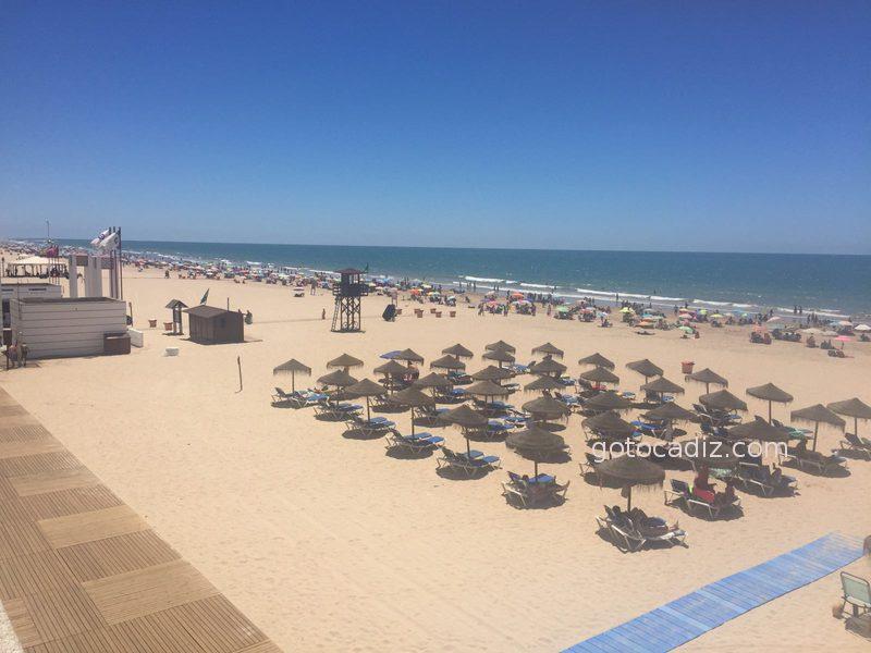 Panorámica de la playa Victoria