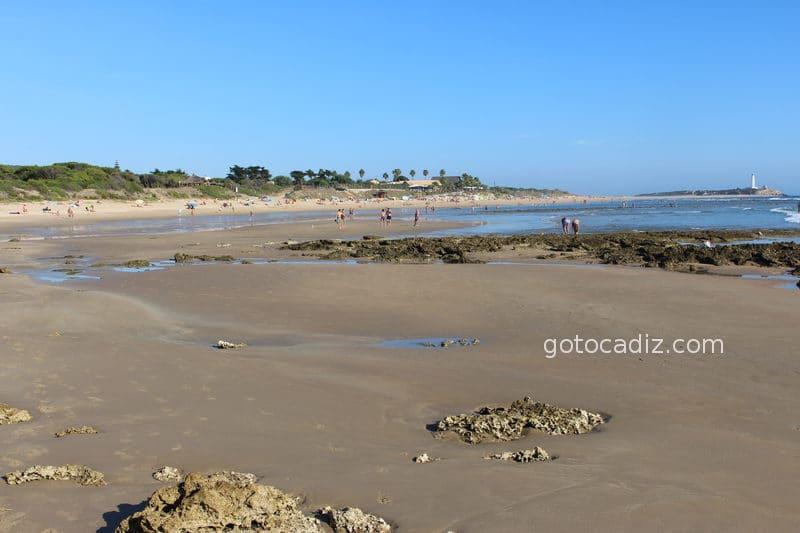Playa de Zahora y Faro de Trafalgar vista desde La Mangueta