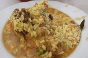 El arroz con faisán de El Soldao